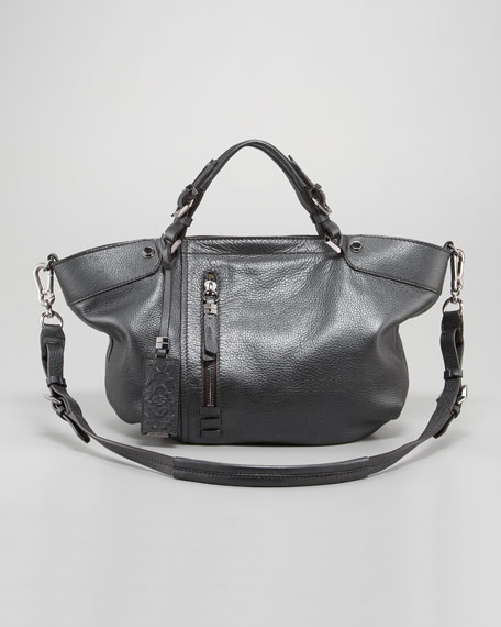 Gwen Pearlized Leather Satchel Bag