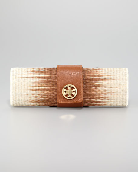 Ombre Straw Clutch Bag