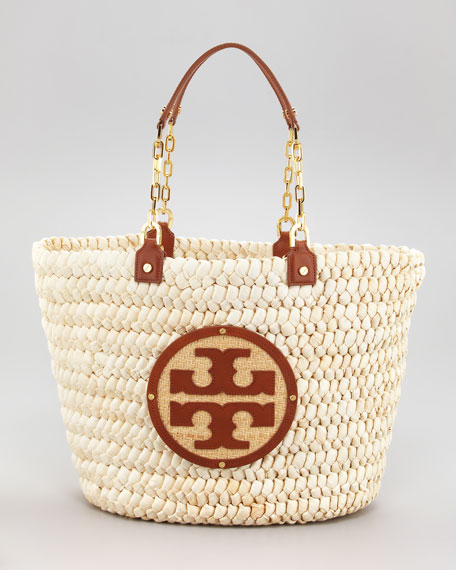 Tory Burch Audrey Straw Tote Bag