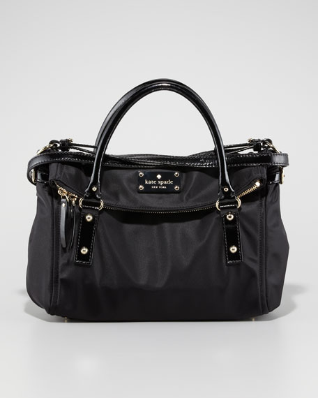 leslie nylon small handbag