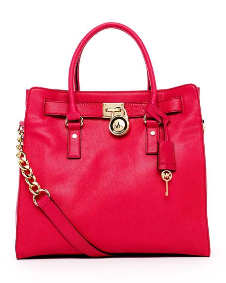Hamilton Large Tote Bag, Lacquer Pink