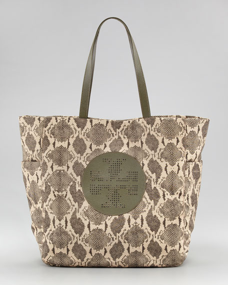 Billie Snake-Print Shopper
