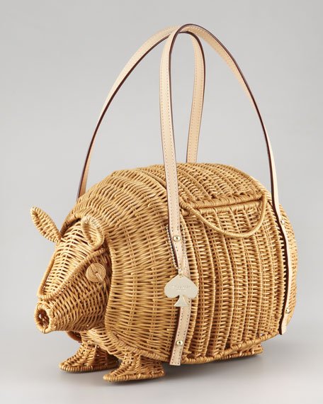 armadillo wicker shoulder bag