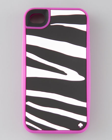zebra-print soft silicon iPhone 4 case
