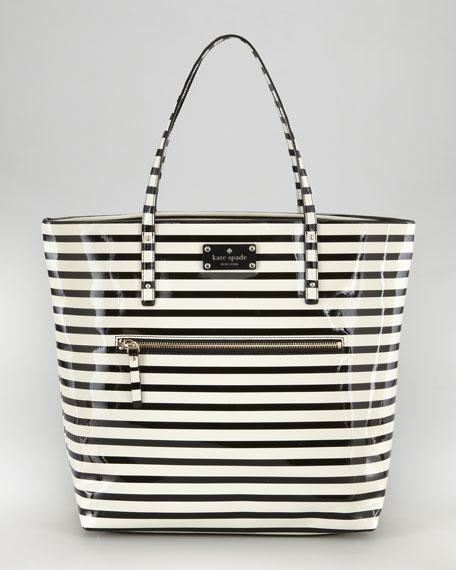 flicker bon striped shopper tote