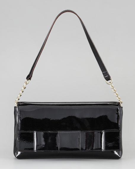 ruby bow monette shoulder bag, black