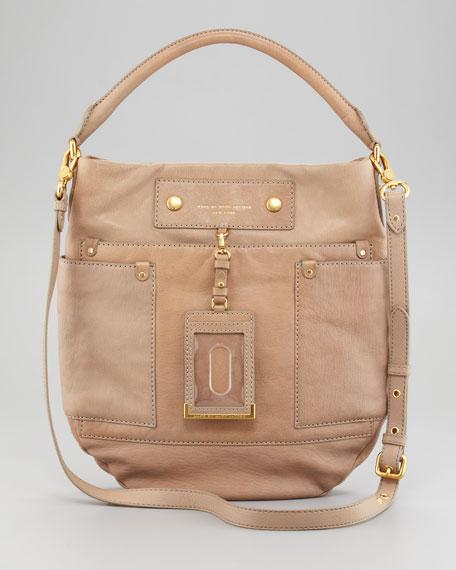 Preppy Leather Hobo Bag