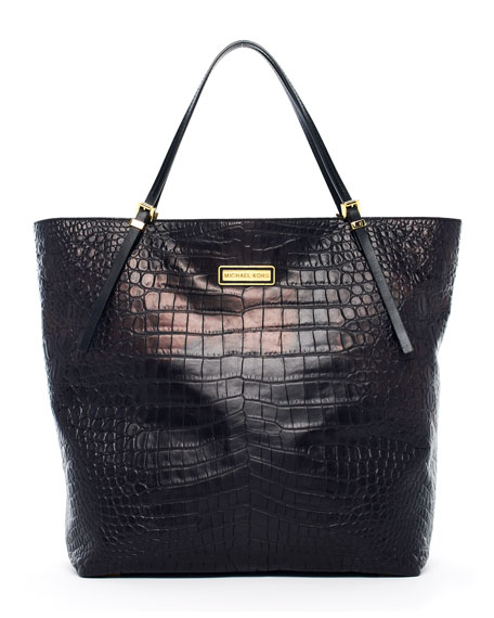 Gia Large Slouchy Tote Bag, Black