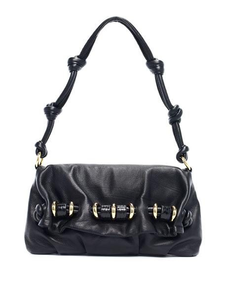 Tonne Shoulder Flap Bag, Black