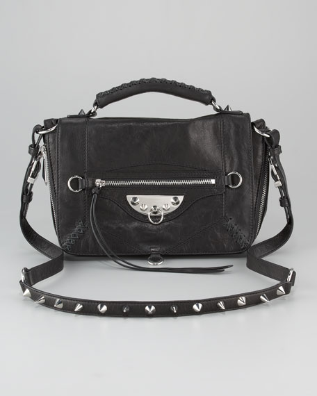Hugo Studded Messenger Bag