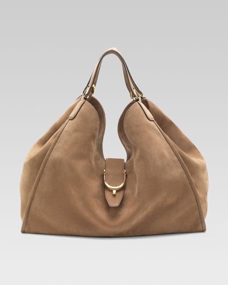 Soft Stirrup Shoulder Bag, Large