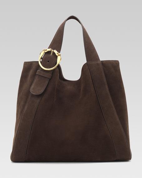 Large Ribot Tote Bag, Brown