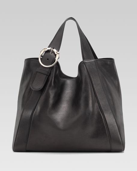 Large Ribot Tote Bag, Black