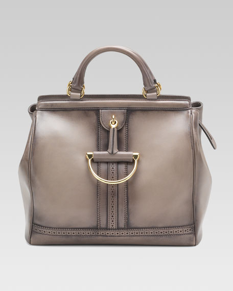 Duilio Top-Handle Horsebit Bag