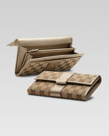 Ladies Bar GG Continental Wallet
