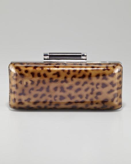 Tonda Leopard-Print Clutch Bag