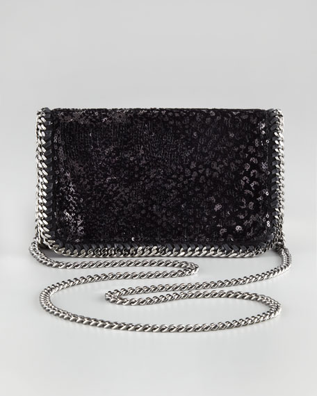 Sequin Velvet Clutch Bag