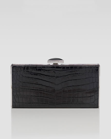 East-West Rectangle Clutch Bag, Black