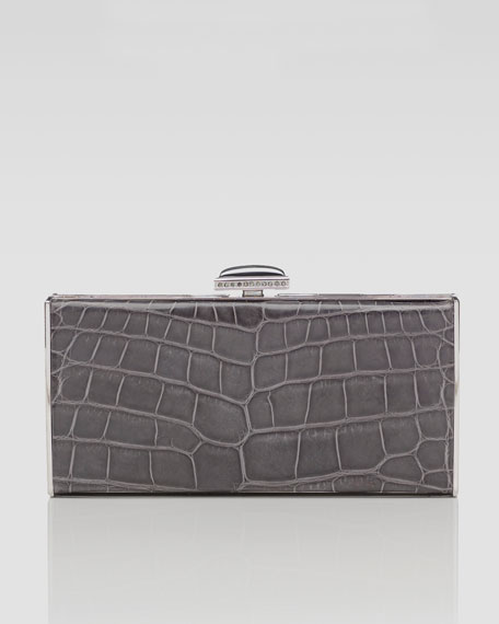 East-West Rectangle Clutch Bag, Gray