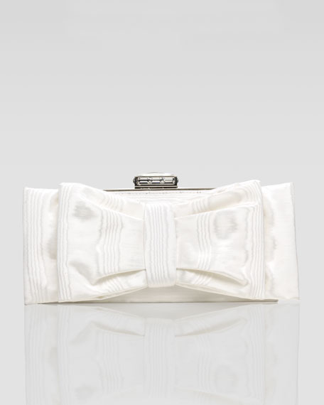 Monica Bow-Covered Clutch Bag