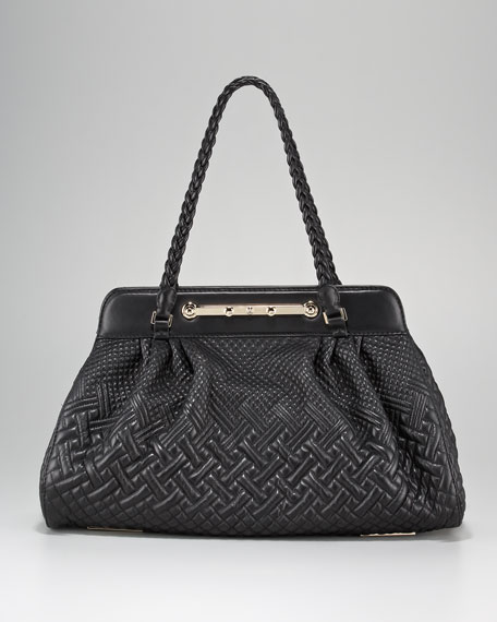 Demetra Quilted E/W Frame Bag