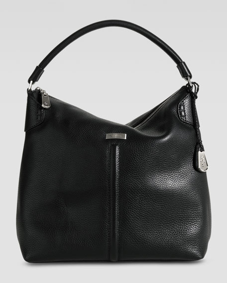 Village Avery Zip Large Hobo Bag, Black