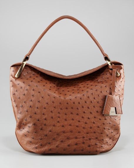 Allegra Ostrich Hobo Bag