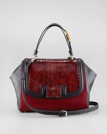 Silvana Python Top Handle Bag