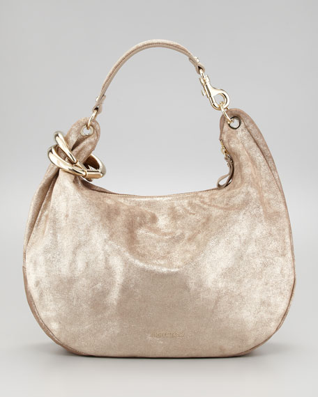 Solar Metallic Hobo Bag