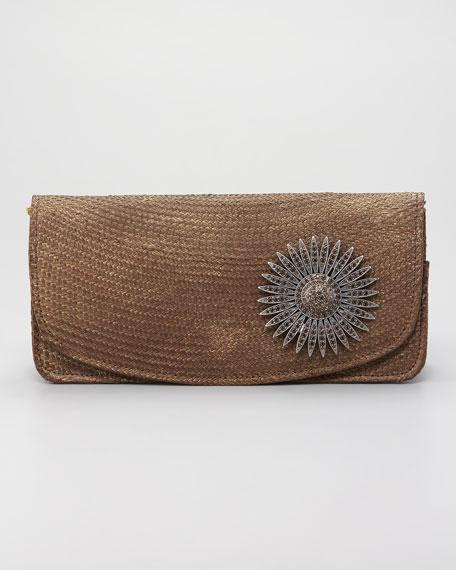 Luna Straw Clutch Bag