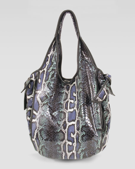 Faux-Snake Carmine Hobo Bag