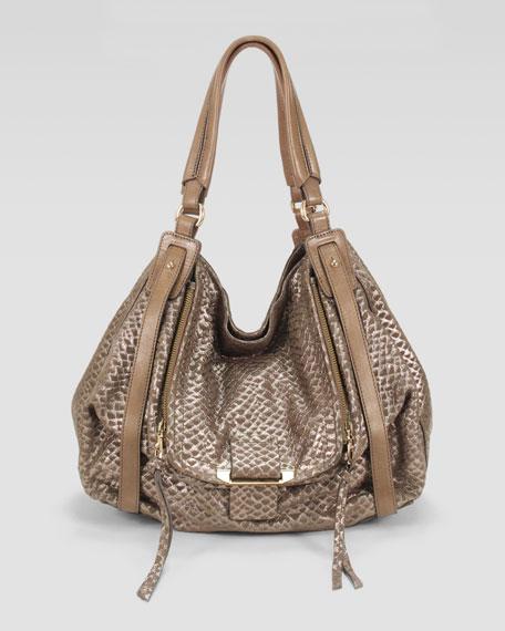 Jonnie Snake-Print Hobo Bag