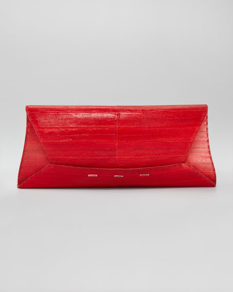 Manila Eel Clutch Bag, Extra-Large