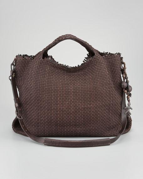 Woven Top-Handle Tote Bag