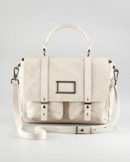 Werdie Snakeskin Messenger Bag