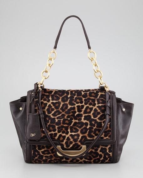 New Harper Charlotte Leopard-Print Calf Hair Shoulder Bag