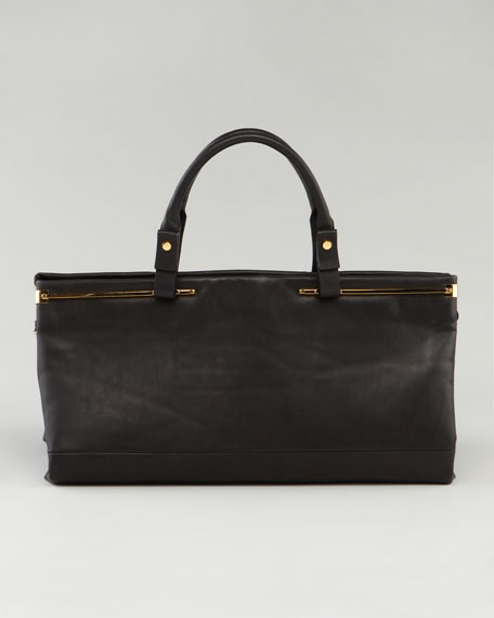 Double-Handle East-West Satchel Bag