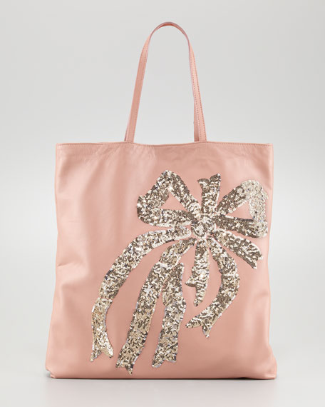 Sequin Bow Tote Bag