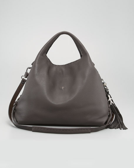 Cervo Leather Hobo Bag, Large