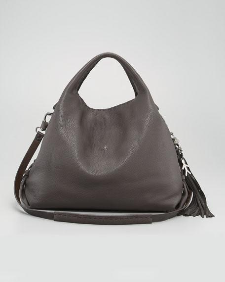Cervo Leather Hobo Bag, Large