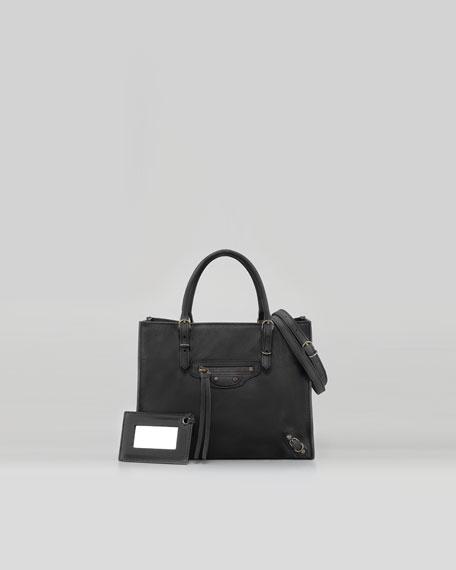 A4 Mini Magnet Tote Bag, Black