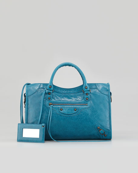 Classic City Bag, Turquoise