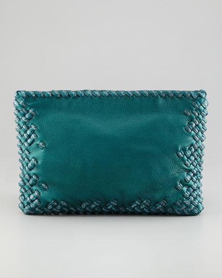 Woven Snakeskin/Cervo Clutch Bag