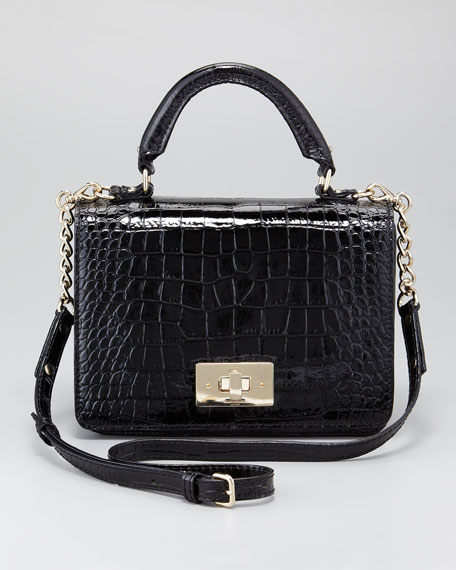 chambers street carlyle croc-embossed bag