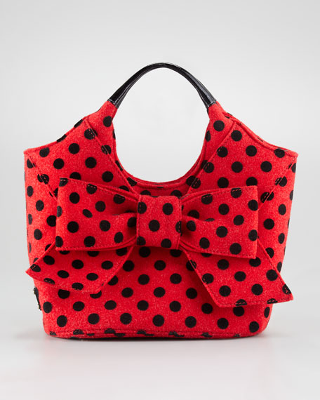 pilgrim hill tate polka-dot tote bag