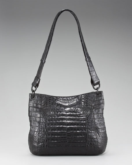 Crocodile Bucket Messenger Bag