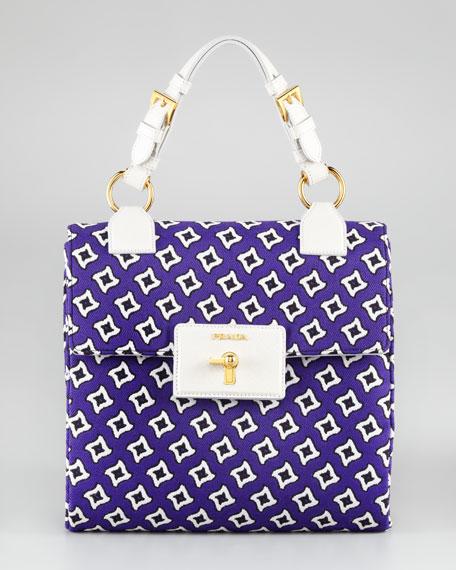 Prada Tessuto Jacquard Handbag