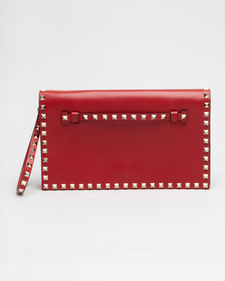 Rockstud Flap Clutch Bag