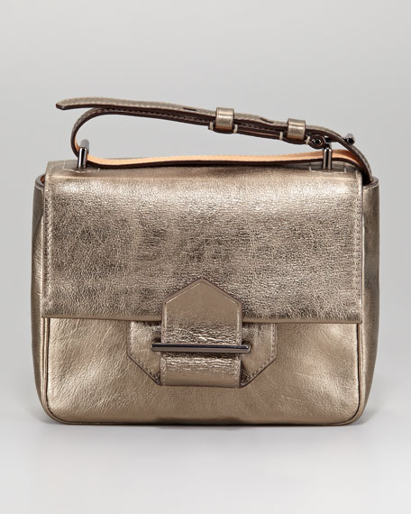 Standard Mini Shoulder Bag, Metallic Leather