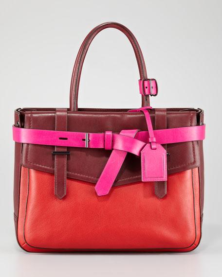 Boxer Tote Bag, Crimson Multi